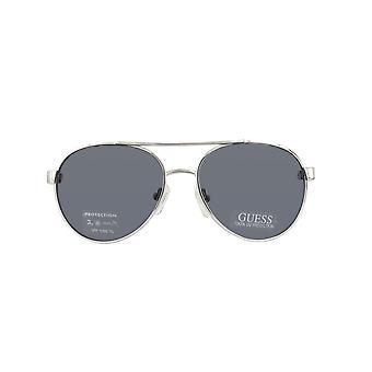 GU0122T-SI-51 srebro biały okulary przeciwsłoneczne guess