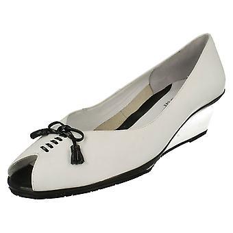 Ladies Van Dal Peep Toe Wedge Heels Guadaloupe