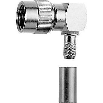 Mini-UHF liitin pistoke, oikea kulma 50 Ω Telegärtner J01045A0002 1 kpl (s)