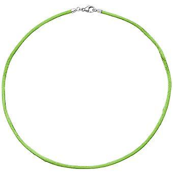 שרשרת משי 925/בצבע ירוק ירוק רצועת הכלים משי חוט משי שרשרת משי כ. 42 ס מ