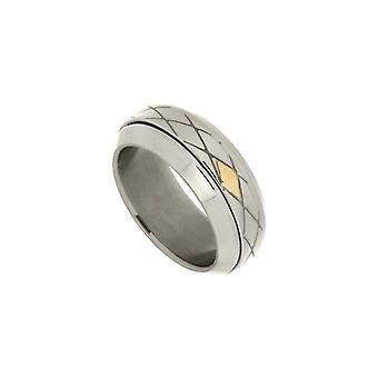ZOPPINI - Selective Stainless Steel 18ct Gold Ring