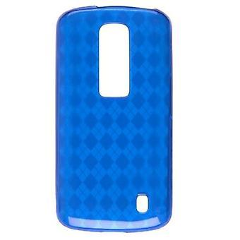 Wireless Solutions Argyle Dura Gel TPU Skin Case for LG Nitro P930 - Blue