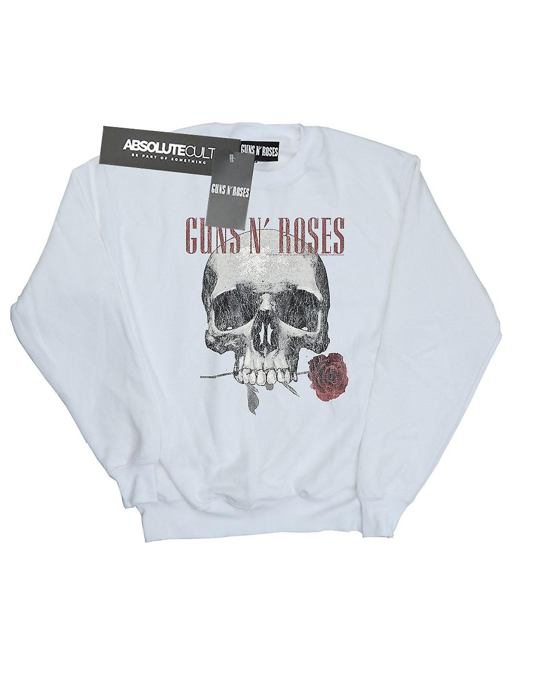 Guns N Roses Women's Flower Skull Sweatshirt