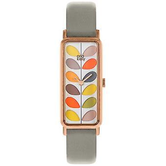 Orla Kiely | Haste de senhoras | Cinzento cinta | Relógio OK2288