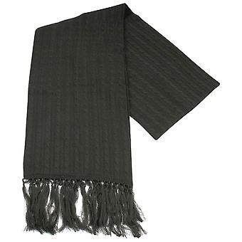 Knightsbridge cravates tricot écharpe en laine - Charcoal