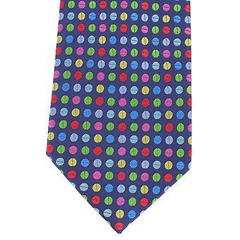 Knightsbridge Neckwear Multi Spot silke slips - blå/Multi-colour