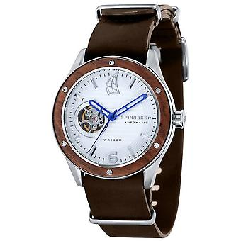 Spinnaker Wood Sorrento Watch - Brown/White