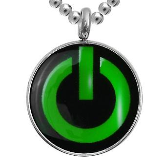Stainless Steel Pendant With Chain, Jewellery, Power Button