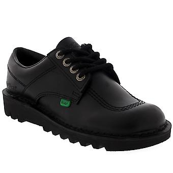 Unisex Kids Junior Kickers Kick Lo Back To School Leather Boot Shoes
