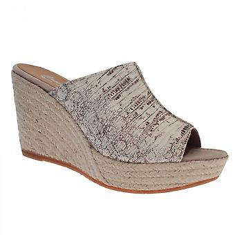 Castell Slip On Skin Print High Wedge