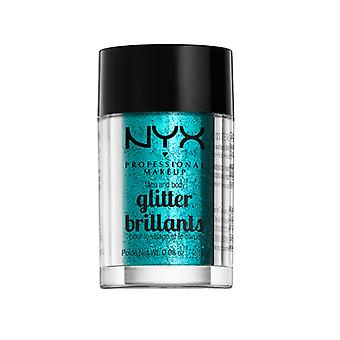 NYX PROF. make-up gezicht & lichaam glitter-Teal 2, 5g