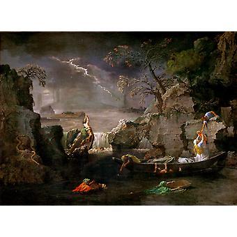 L.Hiver ou Le deluge,Nicolas Poussin,50x40cm