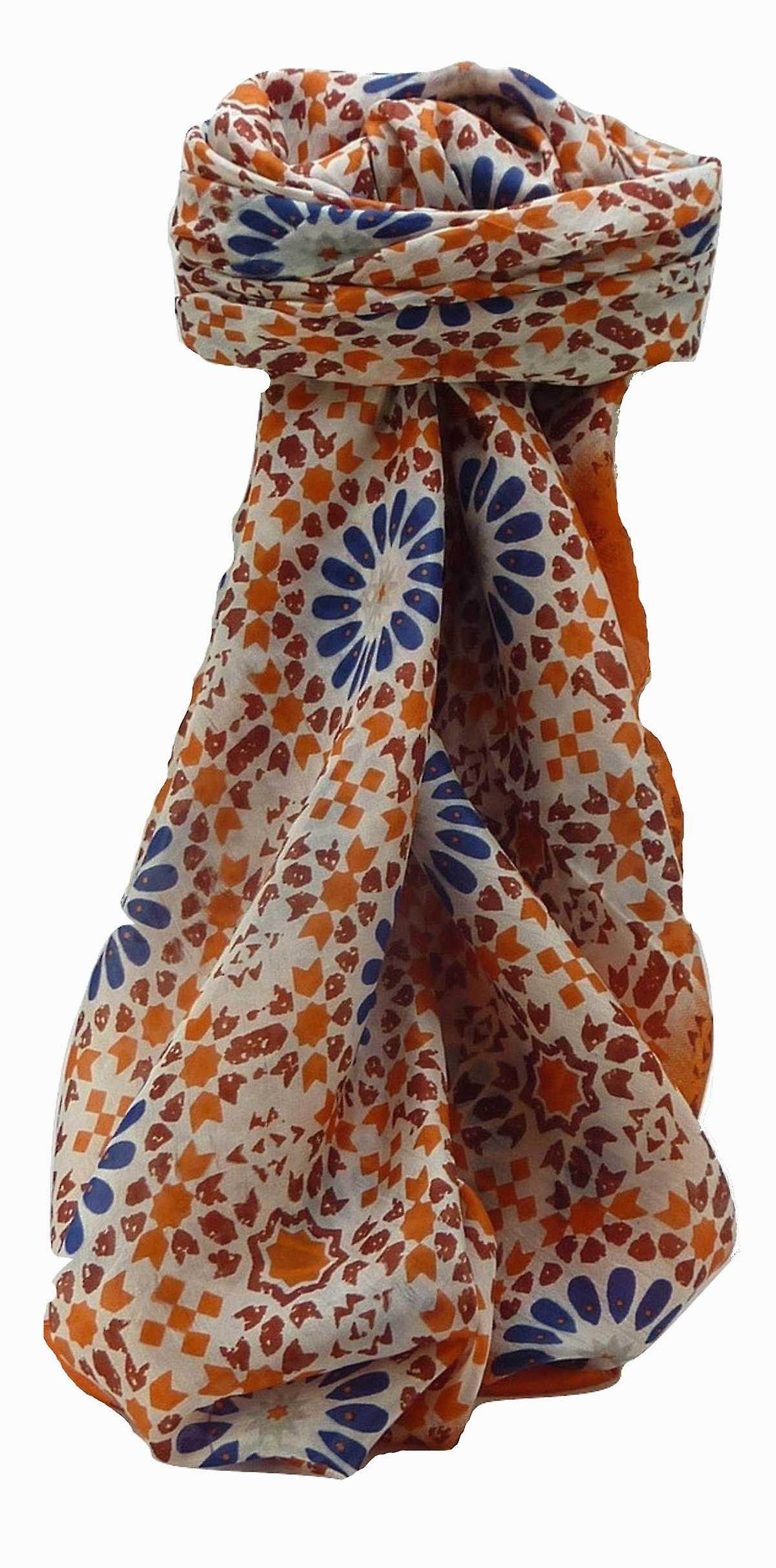 Mulberry Silk Contemporary Square Scarf Geometric G122 by Pashmina & Silk