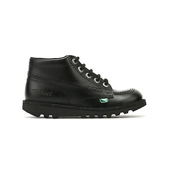 Kickers Kick Hi Junior Black Leather Boots