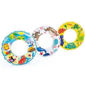 """Intex 24"""" transparante gedrukte opblaasbare zwemmen Ring - 1 kopen"""