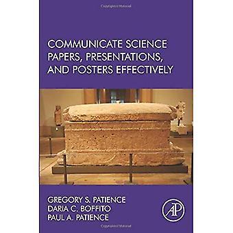Wissenschaft Vorträge, Präsentationen und Poster effektiv zu kommunizieren