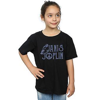 Janis Joplin Girls tyyppi Logo t-paita