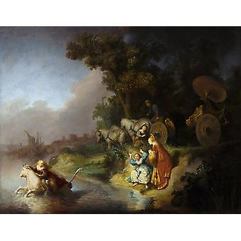 Euroopan raiskaus, Rembrandt, 50x40cm
