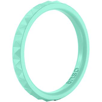 Enso Rings Pyramid Stackables Series Silicone Ring - Mint Green