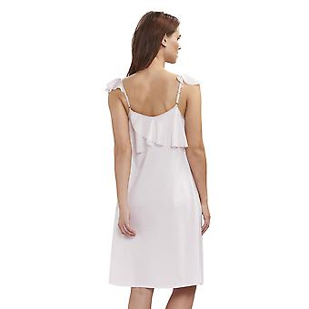 Féraud 3191283-11577 Women's Couture New Rose White Cotton Night Gown Loungewear Nightdress