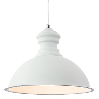 Erstlicht-1 Light Ceiling Pendant Rough Sand White-2307WH