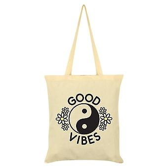 Grindstore Good Vibes Cream Tote Bag