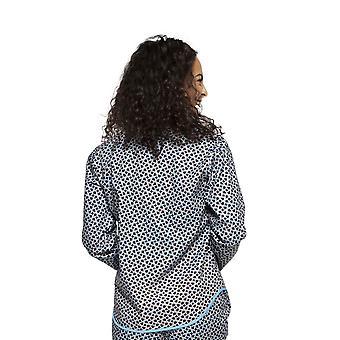 Cyberjammies 4193 Women ' s Milly Black Mix telha de algodão de impressão Top pyjama