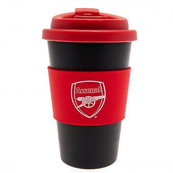 Arsenal Silikon Grip Reisebecher