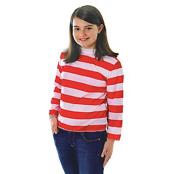 Bristol Novelty Childrens/Kids Red And White Striped Top