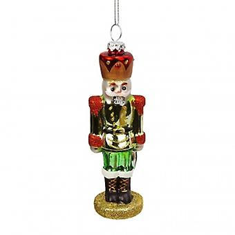 Green Nutcracker Christmas Tree Decoration| Widdop Gifts