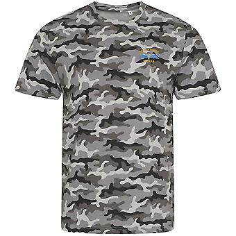 4 PARA 4th faldskærm regiment vinger-licenseret British Army broderet camouflage print T-shirt