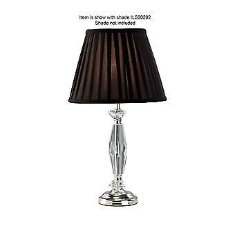 Diyas NEXON kristallen tafel lamp zonder schaduw 1 licht zilver finish