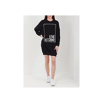 Liebe Moschino Logo Box Pullover Kleid