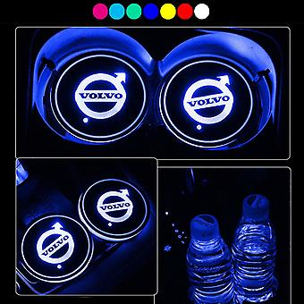 2X Volvo logo Led baseplate for cup holder