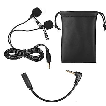 Lavalier revers med dual head mic mic 3,5 mm lydstik