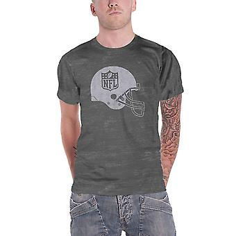 NFL T Shirt Helmet Shield distressed logo new Official Mens Grey
