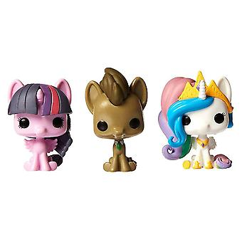 My Little Pony Whooves Celestia Twilight Pocket Pop 3Pk Tin