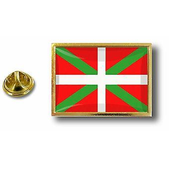 باين بينس شارة دبوس أبوس؛ معدن مع فراشة قرصة العلم إقليم الباسك Euskadi