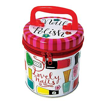 Childrens nail varnish zipped storage tin