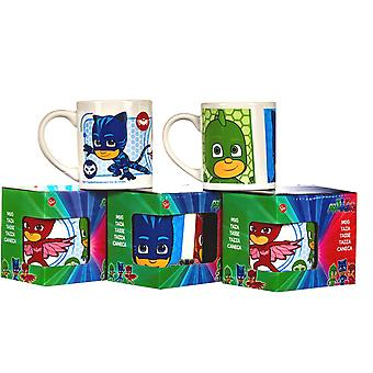 2-Pack PJ Masks Mug cup ceramic cat boy Ugglis Gecko