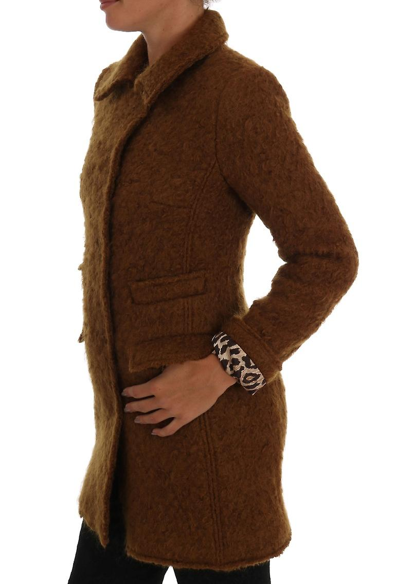 Brown Wool Mohair Double Breasted Jacket