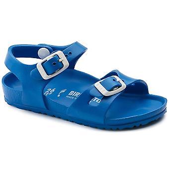 Birkenstock Kinder Rio E V A Sandale 1003535 Scuba Blue NARROW