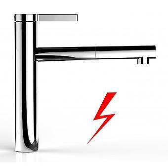 Keuken Eengreepskeukenmengkraan met extraheerbaar douche en hoge draaibare uitloop lage druk-116