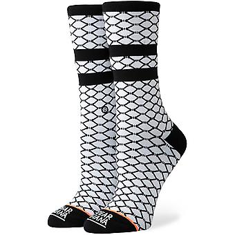 Stance Fish Nets Crew Socks in White