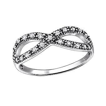 Infinity - 925 Sterling hopea Jewelled renkaat - W31583x