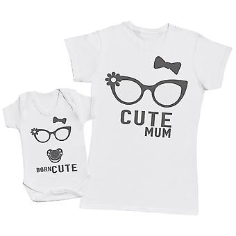 Born Cute- Mothers T-Shirt & Baby Bodysuit