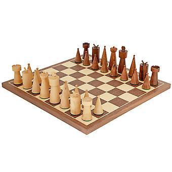Art Deco valnöt schackspel