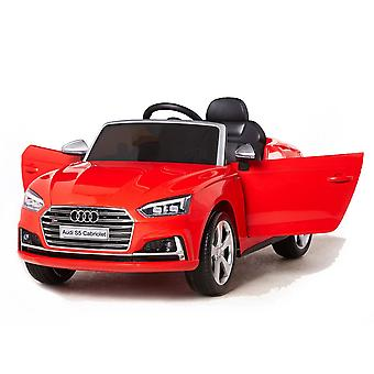 Children's electric car Audi S5 convertible metallic HL258 EVA tire leather seat, LED light