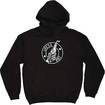 Life's A Riot Black Hooded-Top