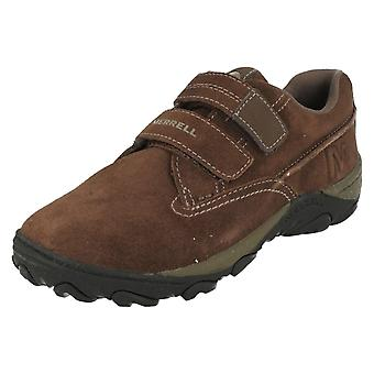 Boys Merrell Fastened Casual Shoes Sight Strap